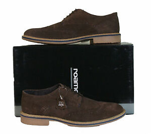 Mens-Real-Leather-Suede-Roamers-Dress-Brogue-Lace-up-Shoes-in-Dark-Brown-M617DBS