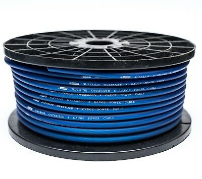 5 METRE 8 AWG OFC OVERSIZED 10MM² 8 GAUGE BLUE POWER CABLE 5M HIGH QUALITY WIRE  8 Awg Power Cable