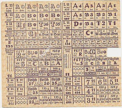 Alte Lebensmittelkarte Nrh.-Westf.  1950   ( Z629)