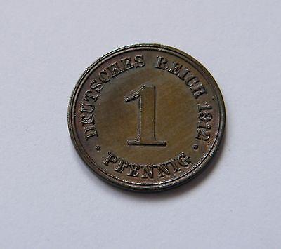 KAISERREICH: 1 Pfennig 1912 G, J. 10, fast stempelglanz