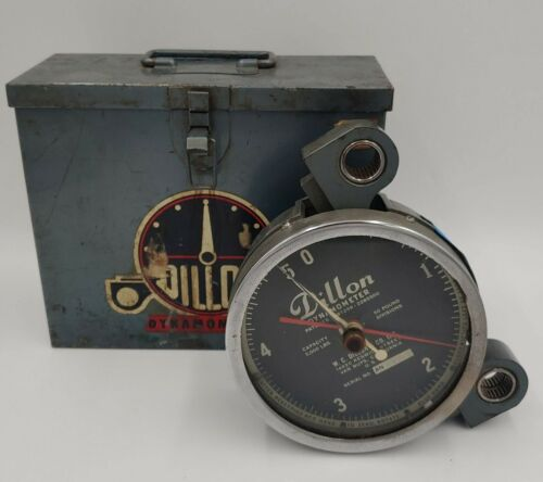 W.C. DILLON Dynamometer 5000 lbs Capacity 50 lb Pound Divisions