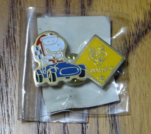 BSA Boy Cub Scouts Snoopy Pinewood Derby Racer Race Car Hat Tie Lapel Pin - NEW