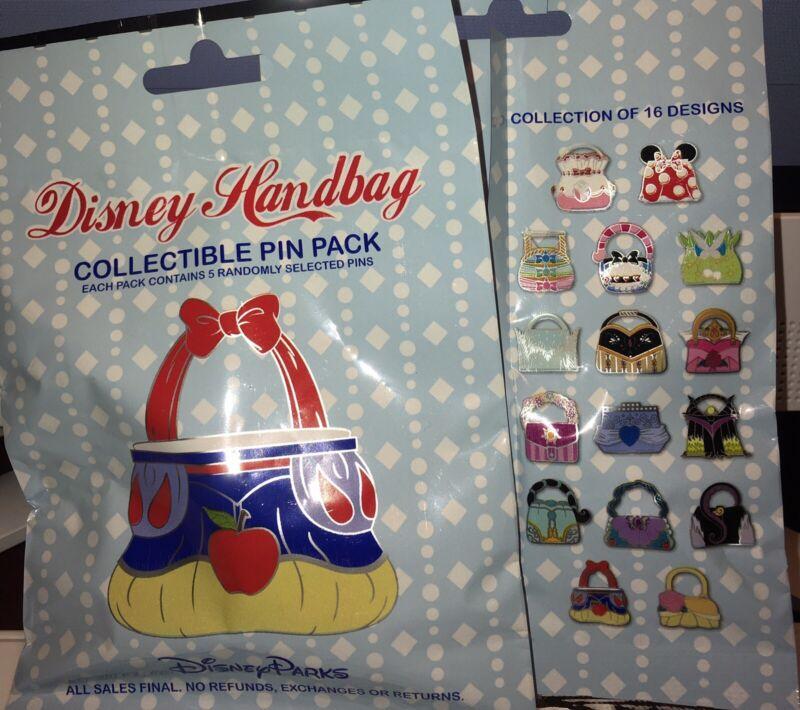 Disney Handbag Mystery 5 Pin Booster Set Bag Pack NEW SEALED PIN