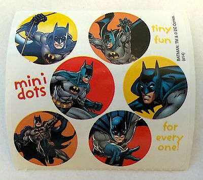 60 DC Comics Batman Super Hero Stickers Party Favors Teacher Supply  - Super Hero Supplies