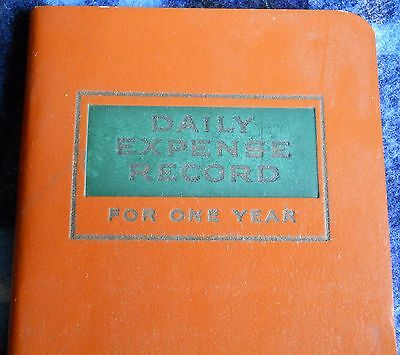 VINTAGE daily expense record for one year BLACKSTONE PUBLISHING  circa 1940