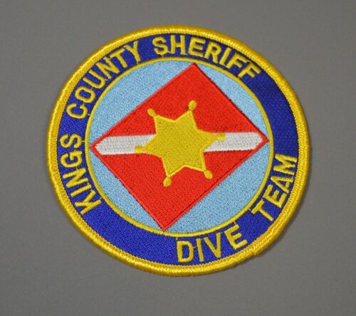 Kings County California Sheriff Dive Team Patch ++ Mint CA HTF