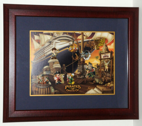 Disney Cruise Line DCL - Pirates of Castaway Cay - 9 Pin Framed Set LE 75
