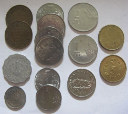 Mixed Lot of Coins From The Republic Of India