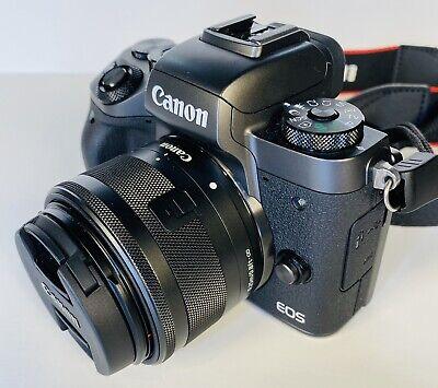 Canon EOS M5 24.2MP Digital SLR Camera - Black (Kit w/ EF-M 15-45mm Lens) EUC