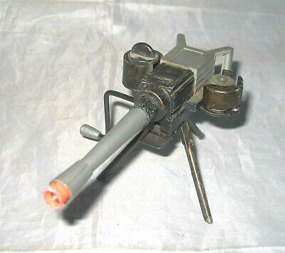 50's VINTAGE KILGORE TOY CAP GUN HAND-CRANKED MACHINE GUN & TRIPOD