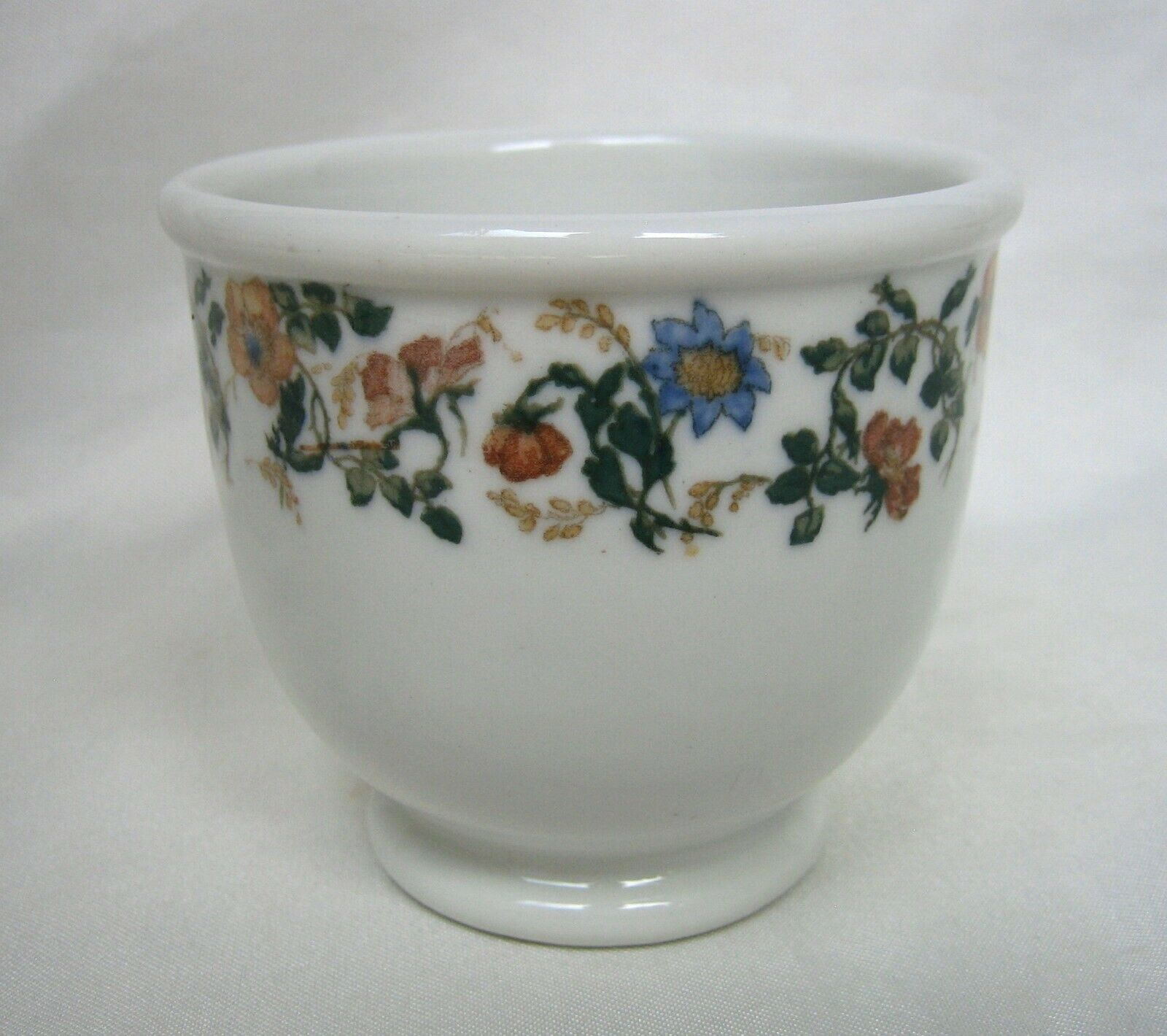 Lamberton China Scammell Restaurant Ware Custard Cup with Flowers