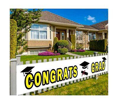 Large Congrats Grad Banner, Class of 2021 Graduation Banner, Graduation Party...