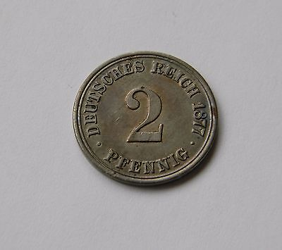 KAISERREICH: 2 Pfennig 1877 A, J. 2, fast stempelglanz !!!