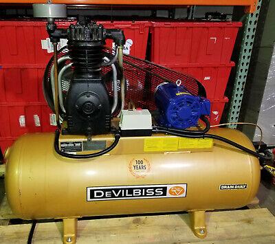 Devilbiss 230v 3ph Tap-5051le Air Compressor 80 Gallon Tank - Inventory 963