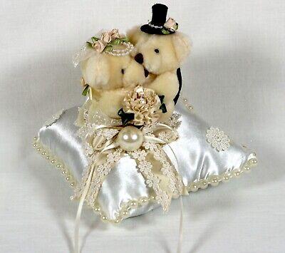 Dekokissen Hochzeitspärchen Bärchen Kissen Geschenk Deko