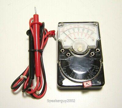Vintage Triplett 310 - Type 3 Vom Mighty Mite Multi-meter With Leads -- Kt