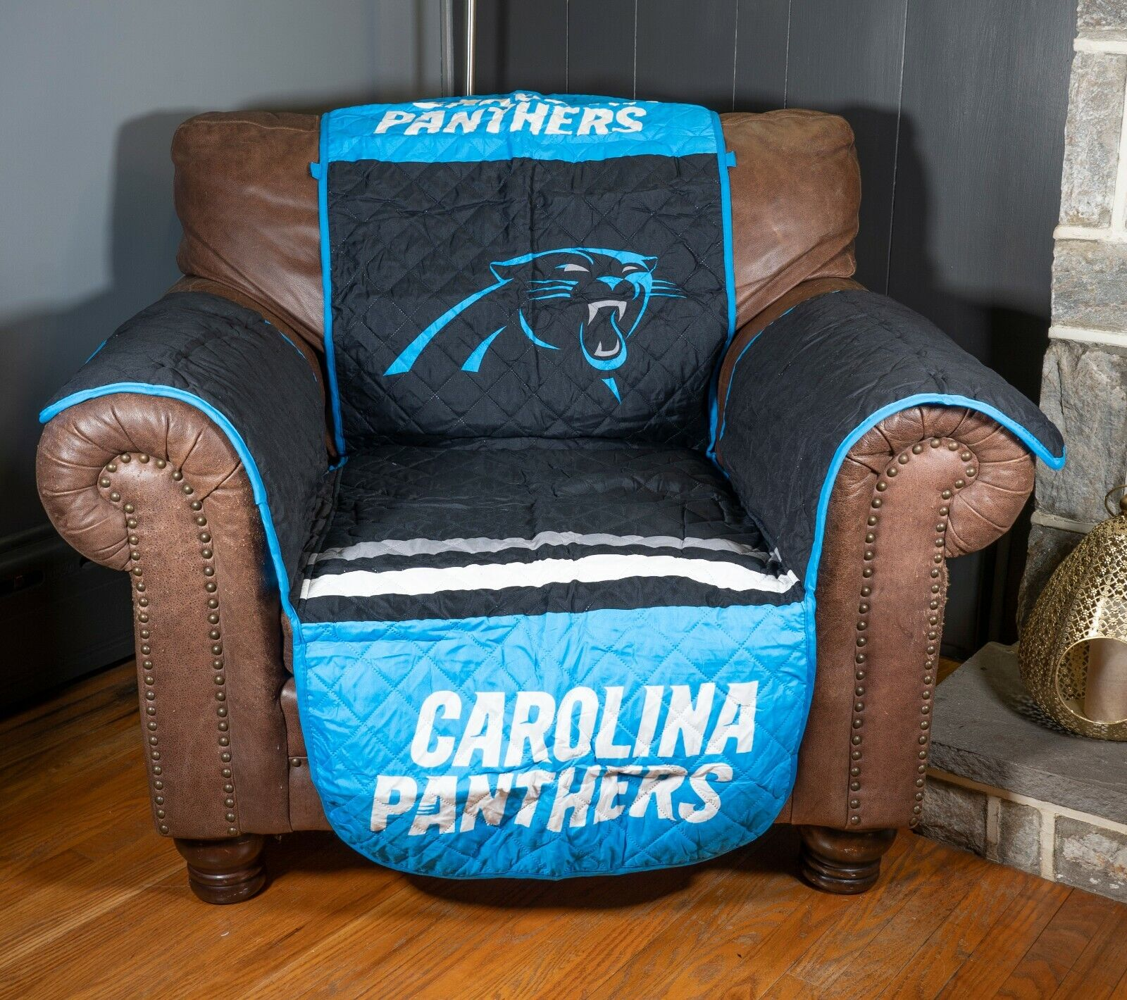 Carolina Panthers  NFL Football Armchair Recliner Protector Cover Protector NEW Furniture