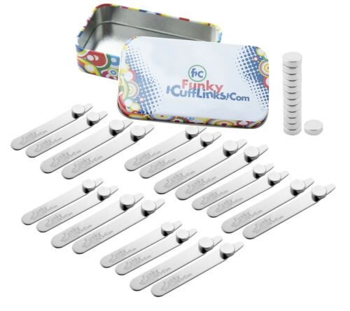 20 Magnetic Collar Stays Bones with Magents - Mixed Sizes