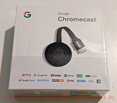 Google Chromecast HDMI Digital Media Streamer Genuine ✔✔ FREE USA SHIPPING ✔✔