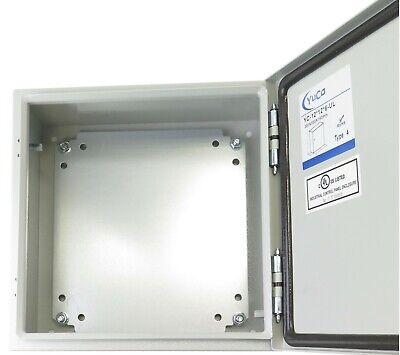 Yuco Yc-12x12x6-ul Electrical Box Ip66 Nema Type 4 Enclosure Gland Screw Plate
