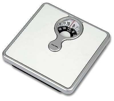 Salter Compact Bathroom Scale - Mechanical Weight Scales -  White - 484 WHDR