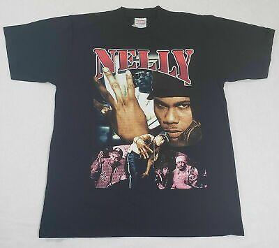 Vintage Nelly Ride Wit Me T-Shirt Sz Large 90s Rap Tee Hip Reprint Gildan V274