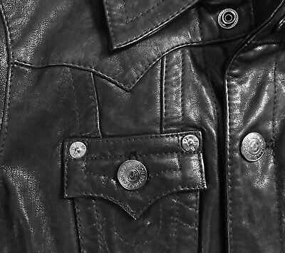 TR Black Leather Jacket Womens Small rivals Allsaints Diesel