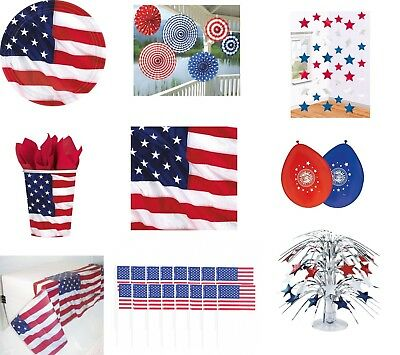 USA Party Auswahl Amerika Mottoparty Dekoration Deko Luftballon Tischdeko