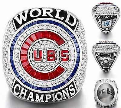 2016 Chicago Cubs World Series Championship Ring Size 8 14 Us Sellr Goat Zobrist