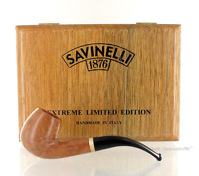 Savinelli Pipe EXTREME LIMITED EDITION NATURAL 602 clear smooth shape bent