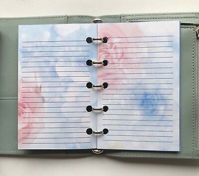 Filofax Mini Organiser Planner - Beautiful Candyfloss Lined Note Book Paper