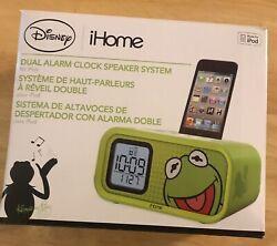 Disney I Home Kermit the Frog Dual Alarm Clock for Ipod BRAND NEW