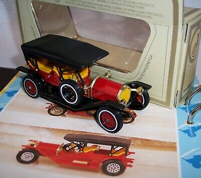 MATCHBOX YESTERYEAR Y-9 SIMPLEX DARK RED w/ YELLOW GRILLE BLACK ROOF ISSUE 18 MB