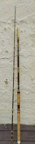 VINTAGE GARCIA CONOLON 9 FOOT 2 PIECE FISHING ROD #2571 FAST TAPER MED ACTION