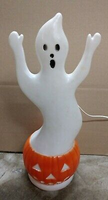 Vintage Halloween Blow Mold Union Products Ghost Pumpkin 1992