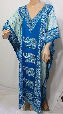 Jessica Taylor Damen Plus One Freie Größe Tunika Kaftan Kleid Bedecken Batik ()