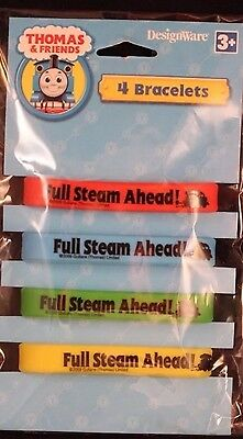 Thomas the Train Party supplies favors-bracelets wristbands 4ct.