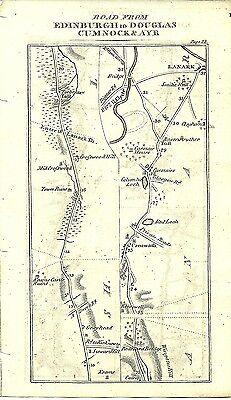 Antique map, Edinburgh to Ayr (2)