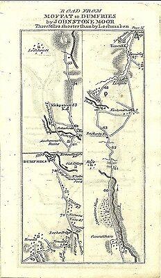 Antique map, Edinburgh to Dumfries (4) / Edinburgh to Whitehorn (1)