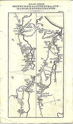 Antique map, Edinburgh to Ayr (3) / Ayr to Stranrawer