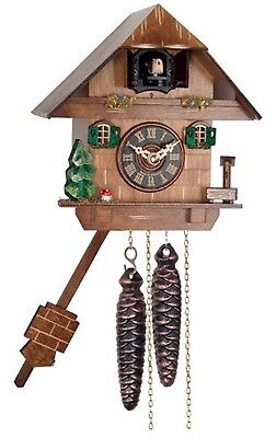 River City Clocks One Day Cuckoo Clock Cottage With Tree,Mushroom And Water Pump