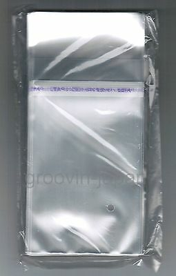 """JAPAN 100x RESEALABLE PLASTIC BAG for 3"""" SNAP PACK CD Top Open w/Flap  FREE S&H"""