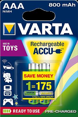 Varta Rechargeable Toy Akku | AAA | AA | C | D  9V | Akku | Produktsortiment