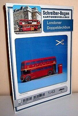 + KARTONMODELLBAU  Londoner Doppeldeckerbus  SCHREIBER-BOGEN 563