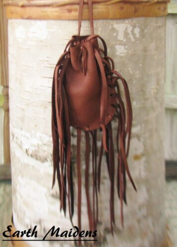 "Native American Medicine Bag 4 1/2""x3"" William Lattie Cherokee Cert of Auth"