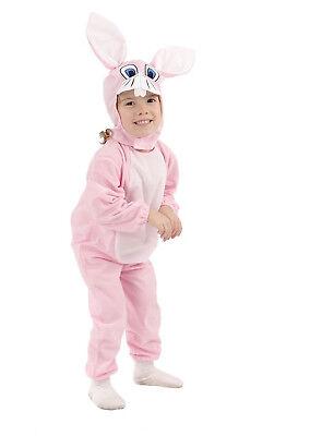 Costume Vestito Carnevale Peluche Coniglio Coniglietto Rosa 3 - 4 anni