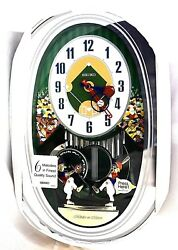 SEIKO Baseball Wall Clock Melodies in Motion QXM256SRH Retail$325 100% Brand New