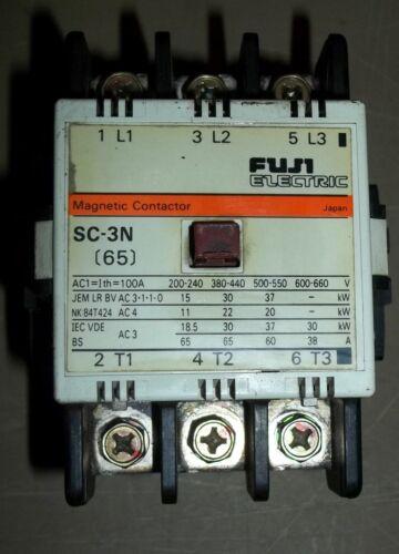 FUJI ELECTRIC SC-3N 4NC2H0, 220 V MAGNETIC CONTACTOR
