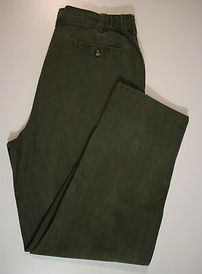 Misses Pleated Front Pants - TAG Safari Misses 12 Washed Faded Green Pleated Front Outdoor Hiking Pants