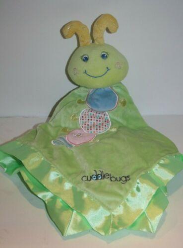 Mary Meyer CUDDLE BUGS Security Blanket Plush Caterpillar Green Satin Stripe Toy